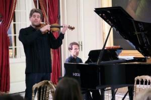 Musique et vin - Nicolas Dutricourt avec son Stradivarius- Piano Fazioli
