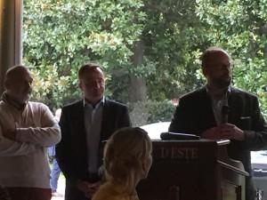 François Mauss, Mr Delmas et le Prince de Luxembourg- Villa d'Este Wine Symposium