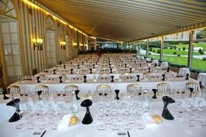 La salle de dégustation avant le service des vins du Domaine de la Romanée Conti-Villa d'Este Wine Symposium